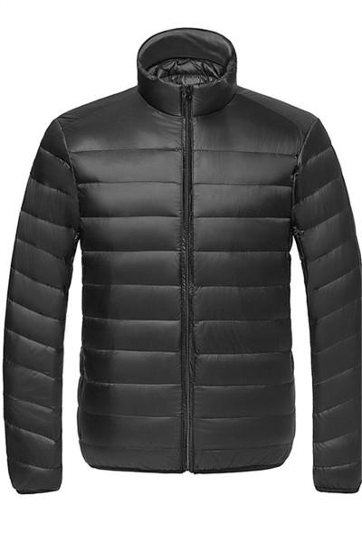 北极绒男士2019冬新品轻薄羽绒服短款保暖立领连帽运动衣外套L50M-57
