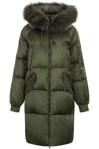 拉夏貝爾女裝冬季中長款顯瘦韓版長袖外套派克服羽絨服女10013167
