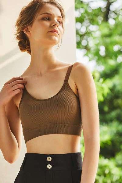 七斓运动内衣女薄款夏天背心式大学生无钢圈纯棉健身聚拢文胸小胸胸罩