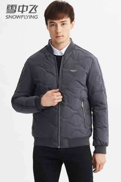 雪中飞轻薄羽绒服男短款时尚休闲棒球领潮流2019新款男士冬季外套