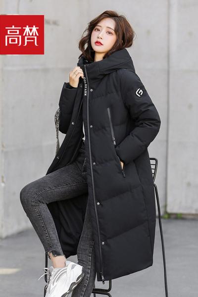高梵长款羽绒服女2019年新款冬装长过膝时尚工装中长款加厚外套潮1190082