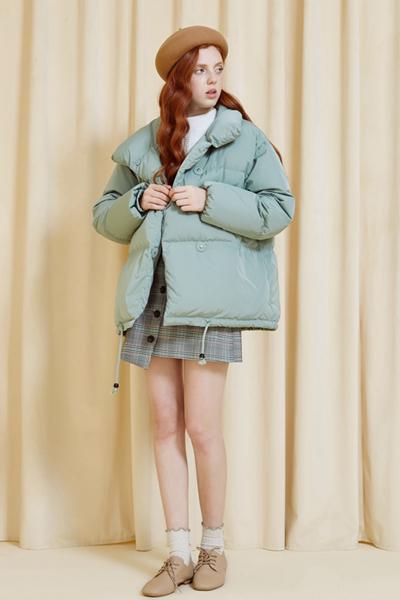 【1件3折價:148.5】美特斯邦威羽絨服女甜美短外套直筒型chic面包服冬新款