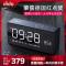 【月底发货】Dido X9无线复古蓝牙音箱新款迷你家庭插卡镜面闹钟音响收音通话遥控智能音响黑色蓝牙4.2