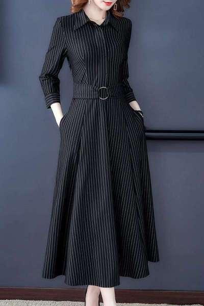 班俏BANQIAO贵夫人连衣裙洋气质减龄2021年春秋季新款大码女装妈妈长裙子