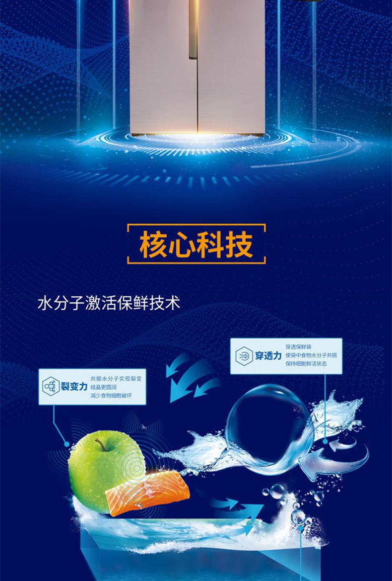 【苏宁专供】美菱冰箱BCD-506WQ3S时光粉