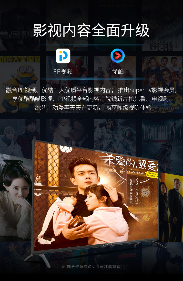 【苏宁专供】PPTV智能电视55C4