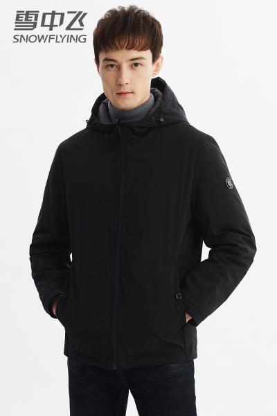 雪中飞男士羽绒服短款2019新款轻薄两面穿连帽反季清仓冬季男外套